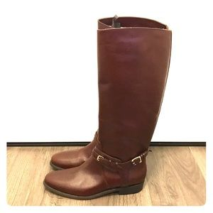 Burberry Brown Leather Riding Boots